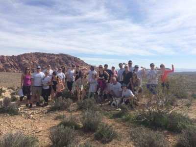 """""""Team LVSA"""" at the 5th annual Red Rock Canyon Cancer Climb."""