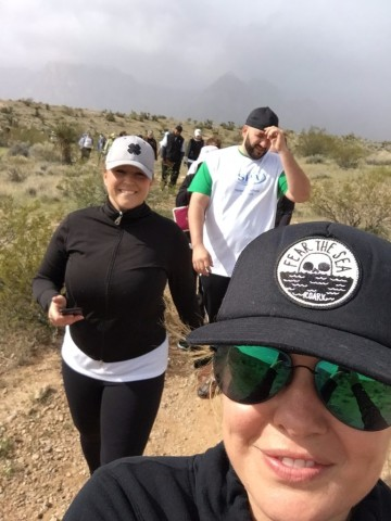 """Team LVSA"" at the start of the Red Rock Canyon Cancer Climb."